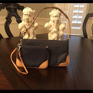 Coach Denim Demi Purse and Wristlet